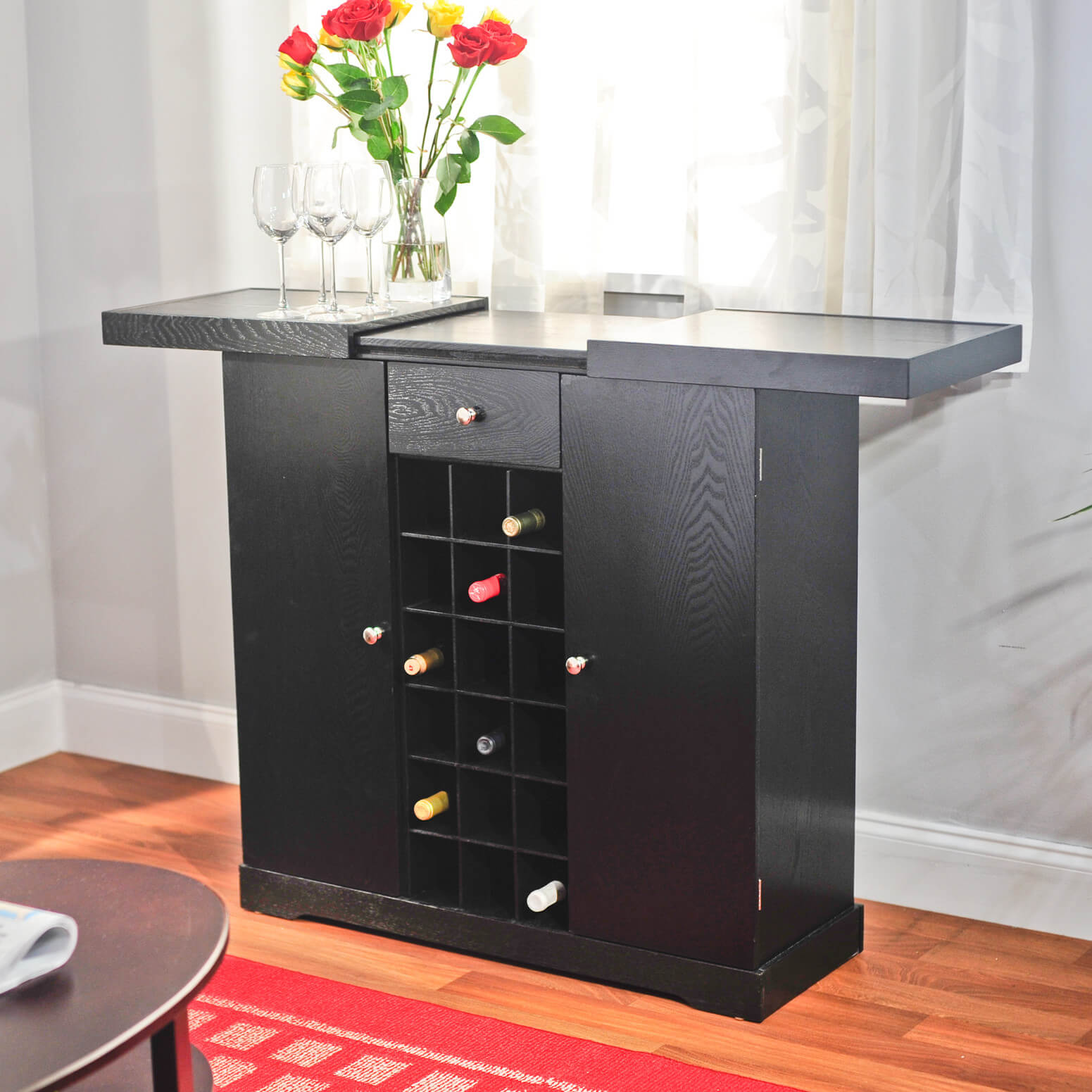 Wine Boxed Bar Cabinet