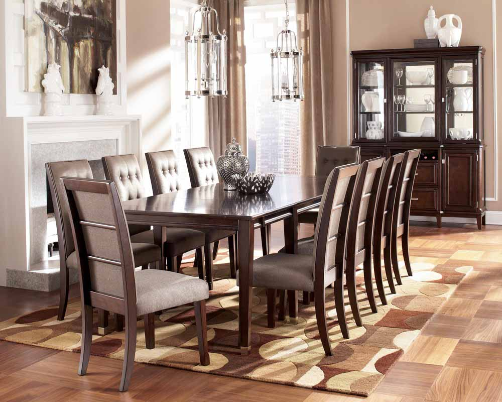 Wooden Dining Table With Quilted Chair