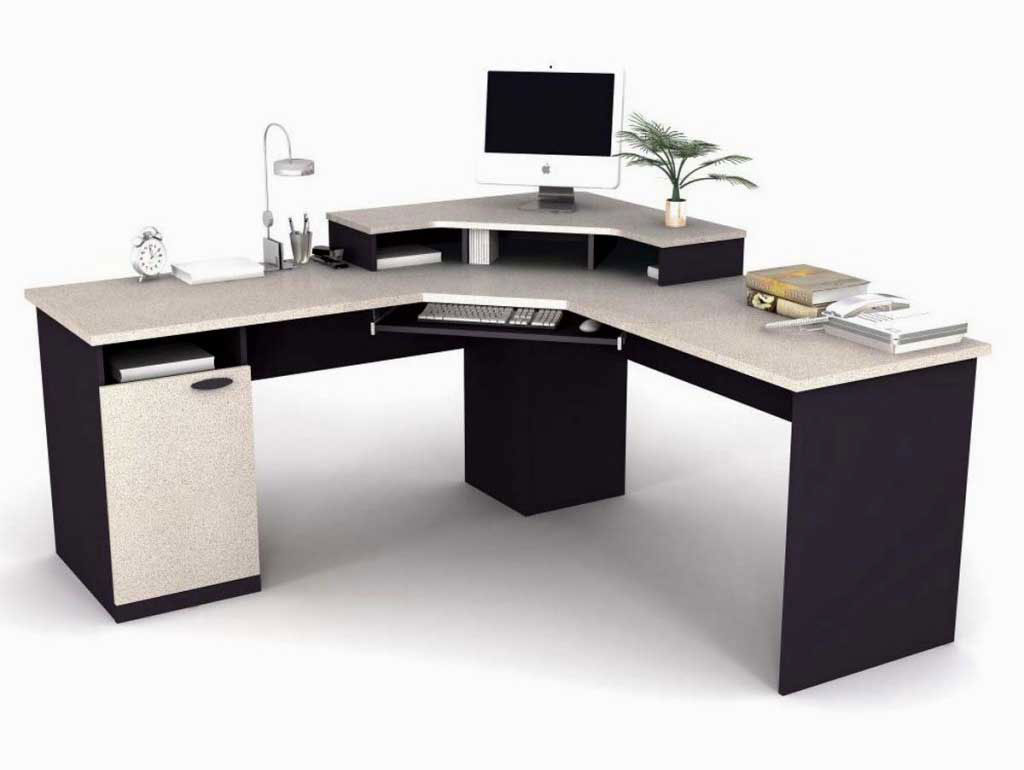 Office Furniture Table Design Corner Black Computer Table Office