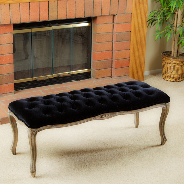 Rich Black Knotted Bench