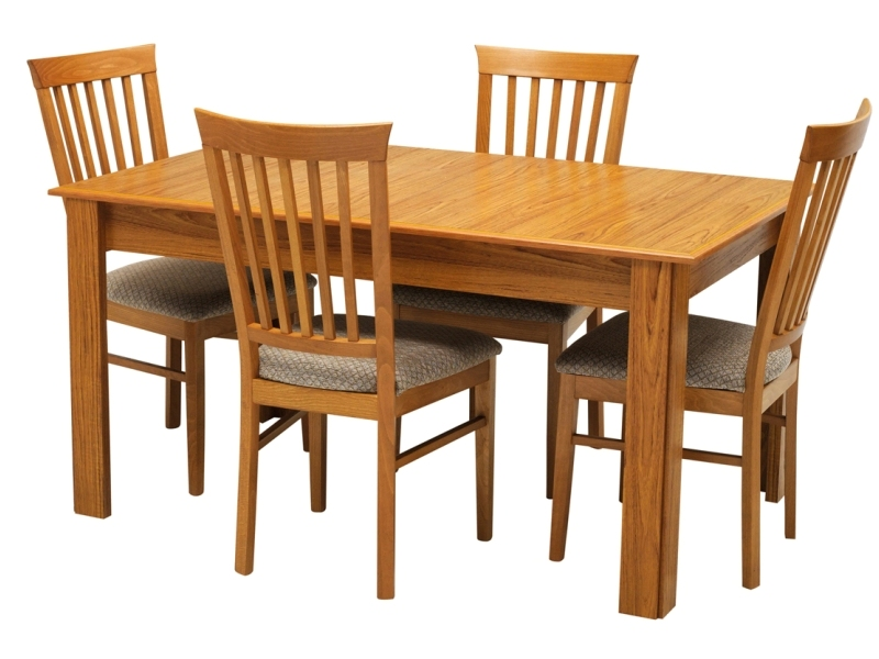 Natural Teak Dining Table Set